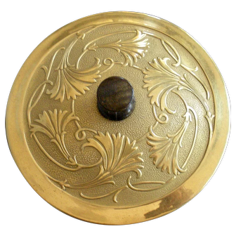 DeVilbiss Art Nouveau Vanity Powder Jar c.1928