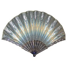 Museum Quality Exceedingly Rare Duvelleroy Antique French Fan Eventail 'au point de Hongrie' c. 1910 Excellent Condition