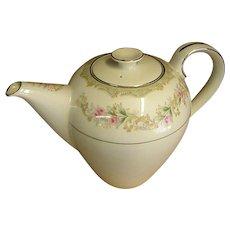 Glorious Great Vintage Celadon Green Art Deco Ceramic Coffeepot Antiques Kitchenware