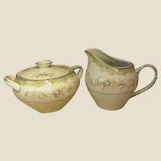 Kenwood Creamer and Covered Sugar by Meito China