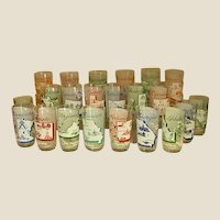Mid-Century Collectible US State Tumblers