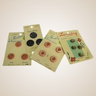 Set of Four Vintage Dress Buttons