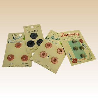 Set of Four Vintage Dress Buttons