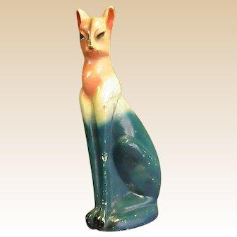 Old Chalkware Plaster Carnival Prize Cat