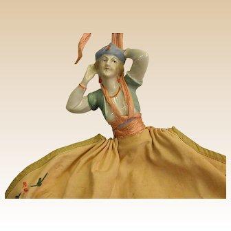 Bohemian Half-Doll Handmade Clothespin Bag