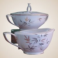 Rare Noritake Cho Cho San China Creamer and Sugar