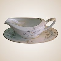 Rare Noritake Cho Cho San China Gravy Boat and Underplate