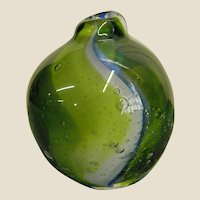 Kosta Studio Art Glass Bud Vase/Paperweight by Ann Warff