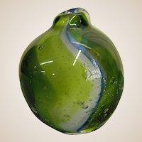 Kosta Studio Art Glass Bud Vase/Paperweight by Ann Warff