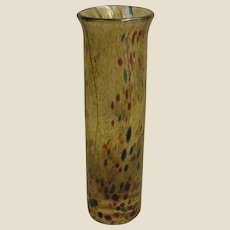 Signed English Studio Art Glass Vase