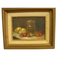 Sweet Country Kitchen Oil Painting on Masonite
