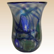 Signed Charles Lotton Studio Art Glass Vase Dated 1979