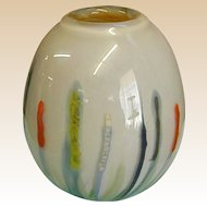 Signed Irving Slotchiver Handblown Studio Art Glass Vase