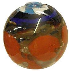 Reserved for Joel  Signed Pauline Solven Studio Art Glass Vase Dated 1979 from Ravenshill Studio