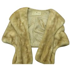 Vintage Mink Stole from Sanger Harris Store of Dallas