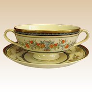 Minton Stanwood China Cream Soups with Under Plates