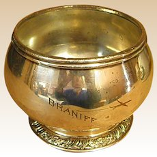 Braniff Airlines Silverplate Waste Bowl
