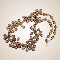 Chunky Vintage Anne Klein Bronze Metallic Necklace