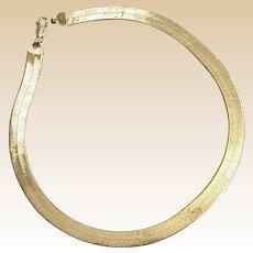 Sterling Herringbone Necklace