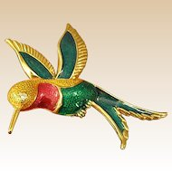 Colorful Hummingbird Brooch/Pin