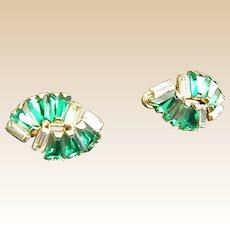 Dazzling Rhinestone Earrings by Phyllis 1950s