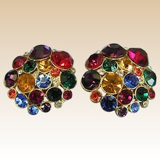 Sparkly Vintage Costume Ear Clips