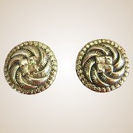 Lovely Vintage Sterling Silver Taxco Clip-on Earrings