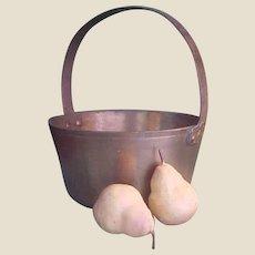 Antique Spun Brass Preserve/Jam Pot