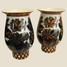 Pair of USSR Lomonosov Porcelain Vases