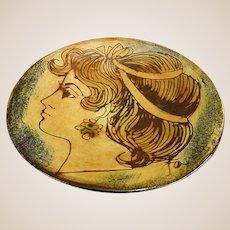 Handmade Shallow Pottery Bowl