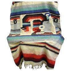 Unusual Woven Native Blanket or Rug