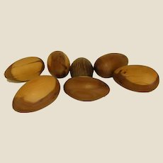 Collection of Polished Wooden Eggs