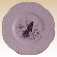 Royal Cauldon Aviary Redwinged Blackbird Luncheon Plates