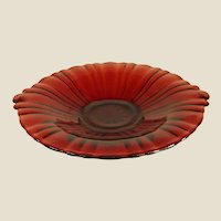 Brilliant Red Glass Sweet Meat or Tidbit Dish