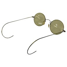Early Wire Rim Eyeglasses with Celluloid Nose Pieces