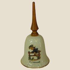 Darling Hummel Porcelain Bell with Wooden Handle