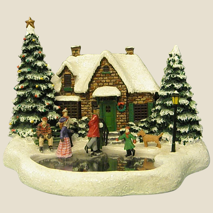 Thomas Kinkade Christmas Cottage 2020 Thomas Kinkade Christmas Cottage Skater's Pond Dated 2004