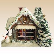 Thomas Kinkade Christmas Scene Stillwater Cottage Dated 2005