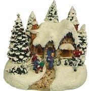 Thomas Kinkade Christmas Scene Country Christmas Homecoming