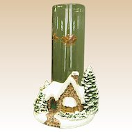 Thomas Kinkade Christmas Scene Memories of Christmas with Candle Holder