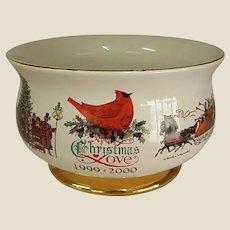 Charles Wysocki Pottery Christmas Bowl