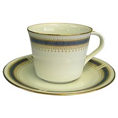 Noritake China Blue Dawn Cup and Saucer