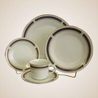 Noritake China Blue Dawn Five Piece Place Setting
