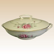 Worcester Rose Covered Round Vegetable Bowl by Royal Worcester