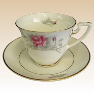 Worcester Rose Demi tasse Cups and Saucers by Royal Worcester