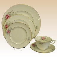 Worcester Rose Five-Piece Setting by Royal Worcester