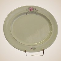 "Worcester Rose 17"" Oval Platter by Royal Worcester"