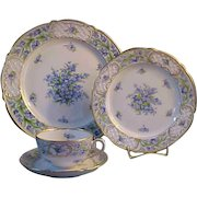 Schumann Bavaria Porcelain China Forget Me Not Dinner Place Settings