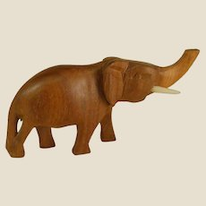 Small Hand Carved Wooden Elephant