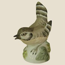 1970s Crown Staffordshire Signed Hand Painted House Wren